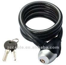 NEW coiling cable key bike lock curly cable lock from SL557A nurbo security bicycle lock with bracket