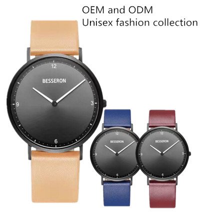 oem and odm casual wrist watch men g p collection new style hand watch with colorful leather strap