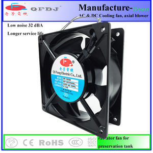 moisture proof ac 220v 120mm QF12038HB2 radiator fan for compressor type refrigerator industry CPU fan
