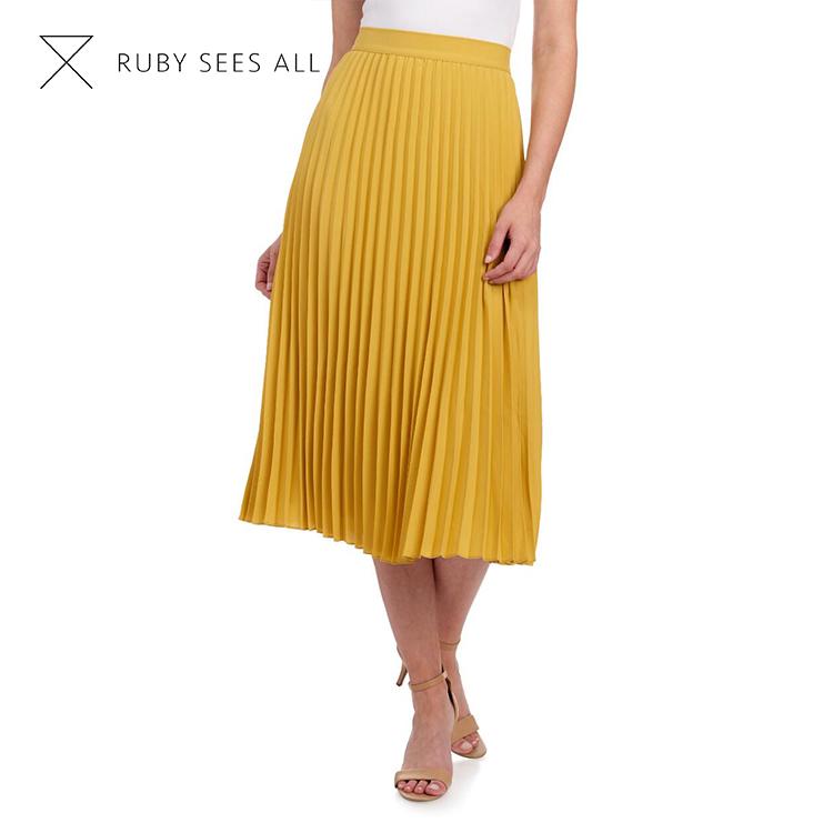 lange gele rok