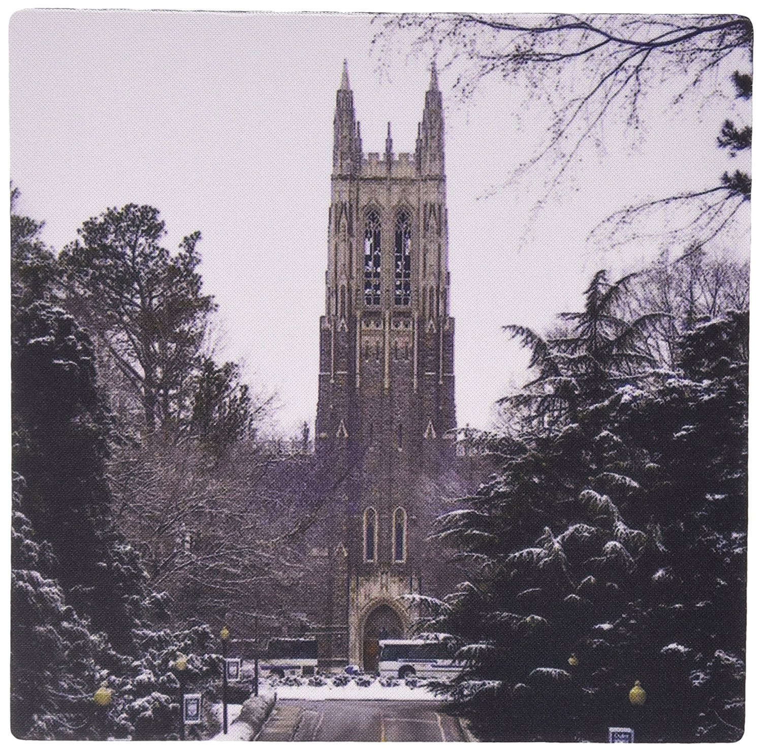 3dRose LLC 8 x 8 x 0.25 Inches Mouse Pad, Duke University Chapel, Durham (mp_55281_1)