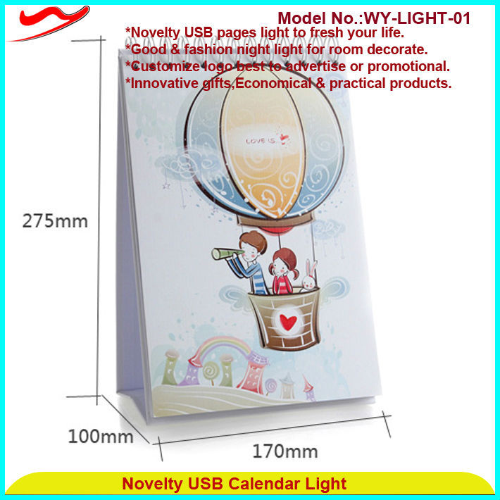 Page book light Innovative stylish paper lantern led lights battery operated