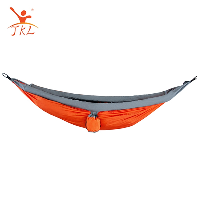 Super lightweight easy setup double camping hammock
