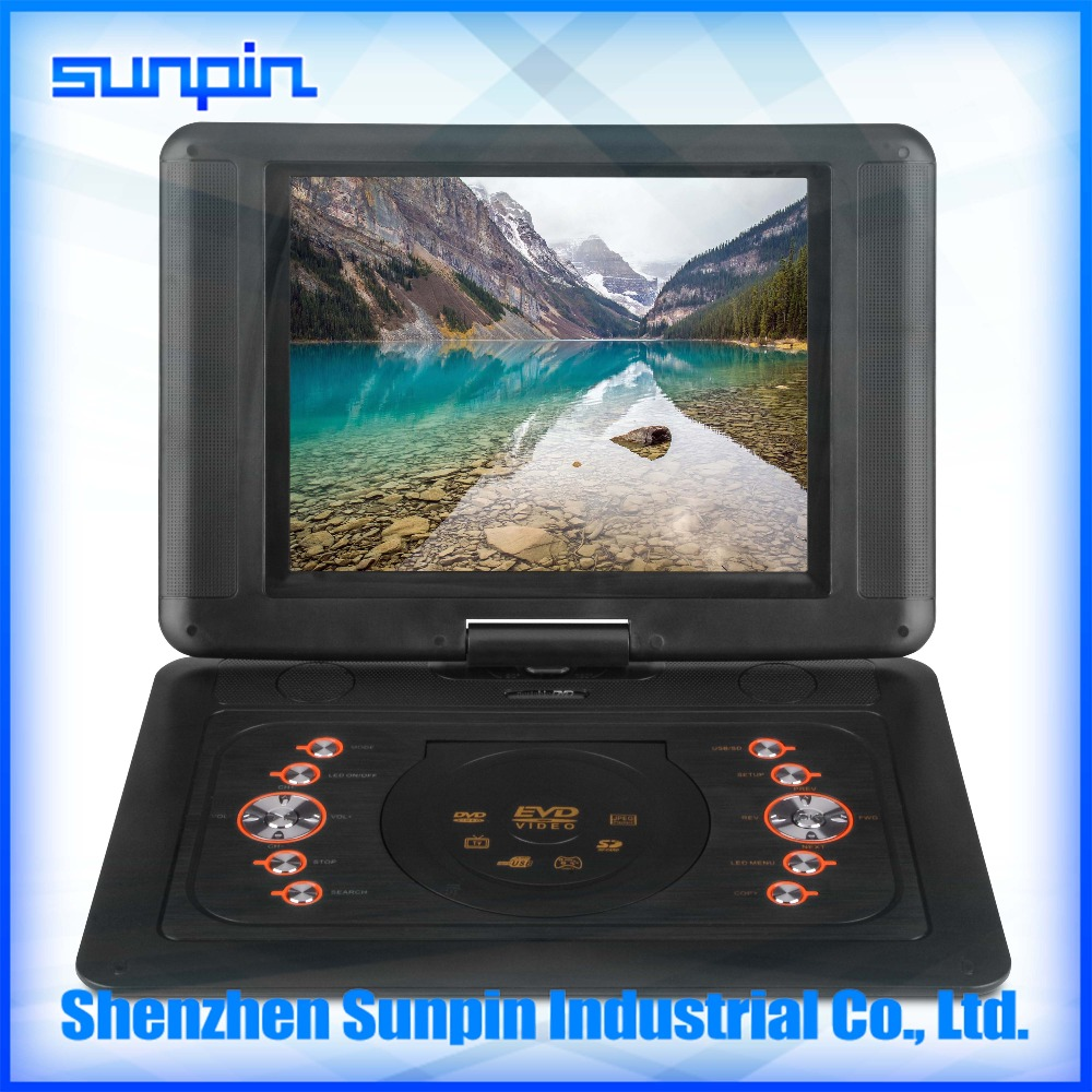 12 inch new portable dvd player with fm radio rmvb