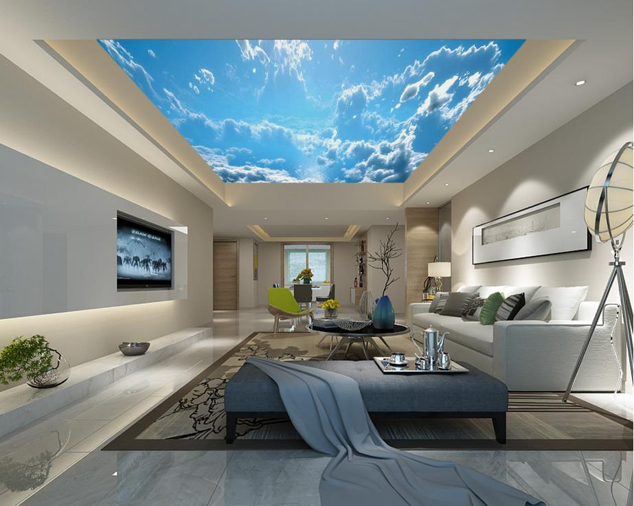online kaufen gro handel sky decke tapete aus china sky decke tapete gro h ndler. Black Bedroom Furniture Sets. Home Design Ideas