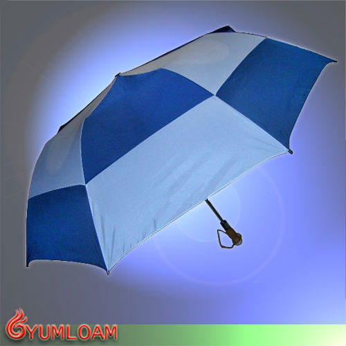 two layers foldable auto open windproof umbrella
