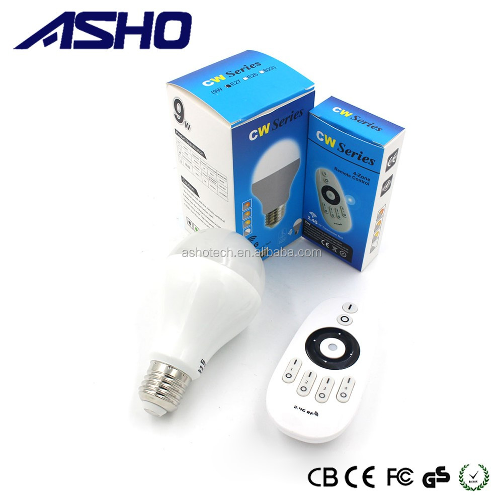 ASHO CW/WW 6w RF warm white led bulb for household lighting