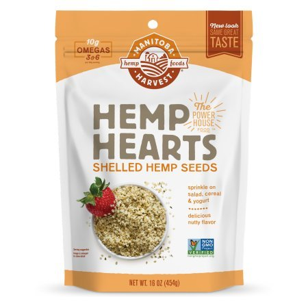 Manitoba Harvest Hemp Hearts Raw Shelled Hemp Seeds, Natural, 1 Pound (Pack of 3) Udc^hj