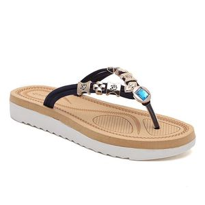 Newest Products Splint Fashionable Water Drill Flat Flip Flops