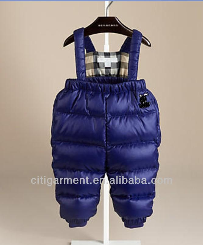 Children's Puffer Baby's Trousers With Braces (3m-3years)