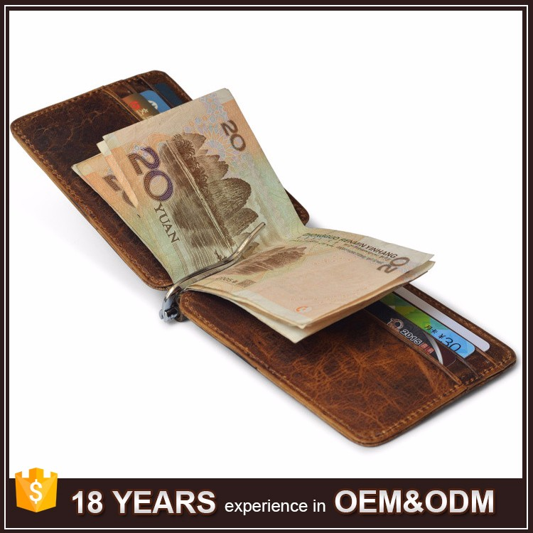 designer brand mens wallets i3qa  High Quality Vintage Leather Designer Brand Mens Wallet with Money Clip