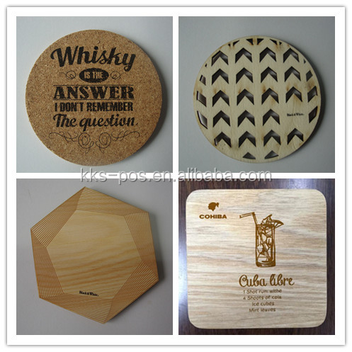 Square and Round Nature vintage Wooden Coaster