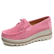 Plus Size ladies shoes new in dubai suede leather tassel loafers Cut-outs latest ladies shoes designs