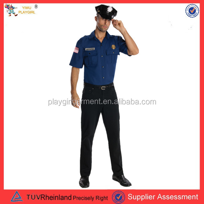 Mens Policeman Police Officer Cop Uniform Halloween Fancy Dress PGMC-0939