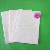 OEM embossed virgined napkin paper hotel and party for life 37x40/42/40x40/42x42cm