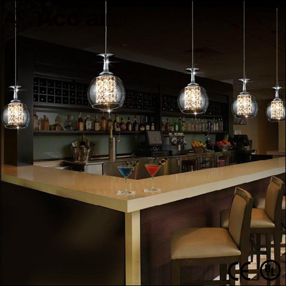 Estilo Europeu Lustre De Cristal Italiano Vinho Sombra De Vidro  ~ Lustre Para Cozinha Americana