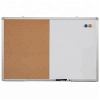 magnetic dry erase white board and cork board combo