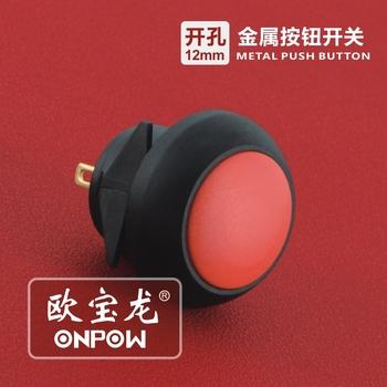 onpow 12mm snap in push button switch(gq12b 10 j pa) ce,ccc,rohsonpow 12mm snap in push button switch(gq12b 10 j pa)