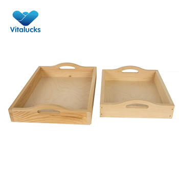 Factory price custom serving wood tray for restaurants