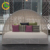 Customised king size hotel outdoor wicker round patio rattan day bed