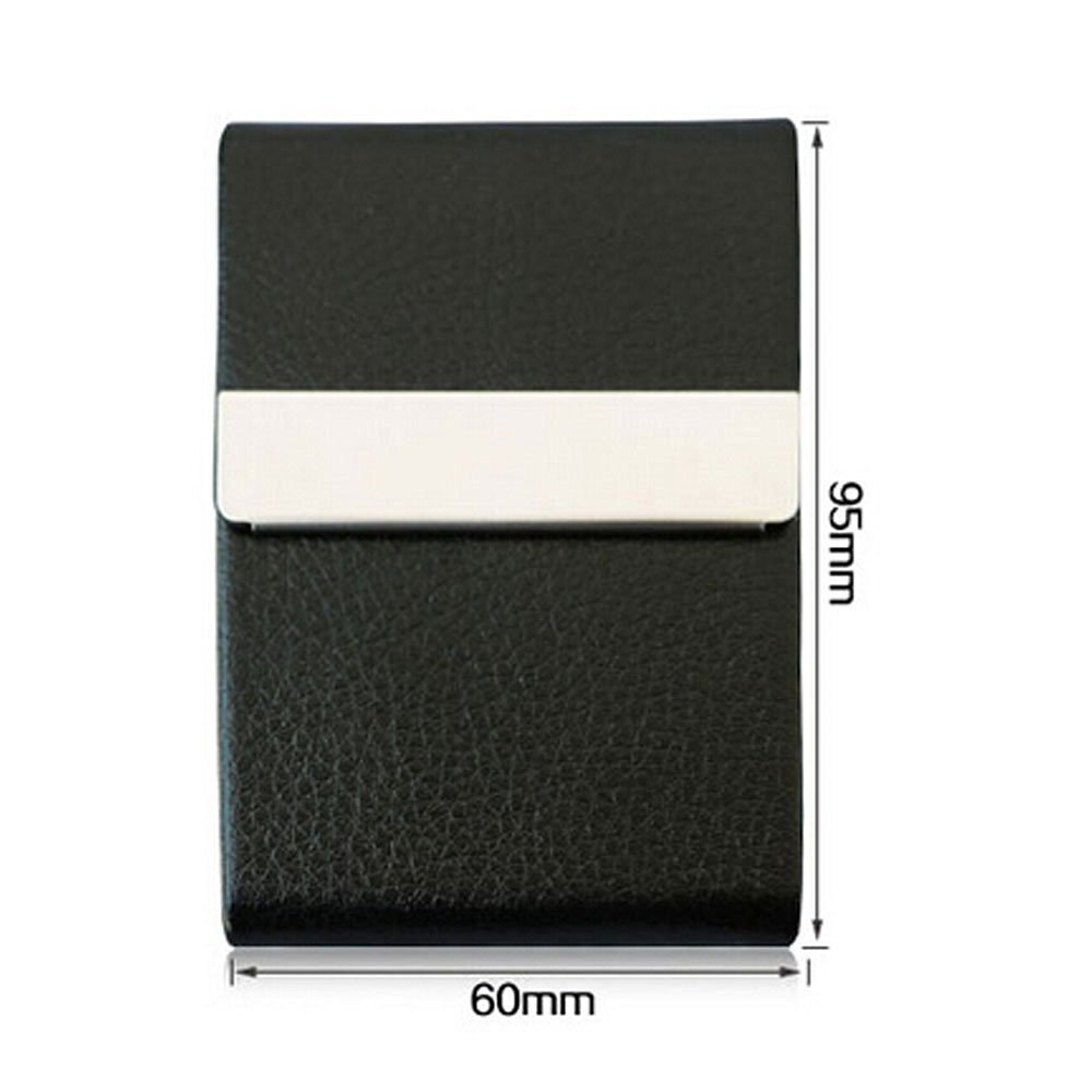 business card holders business name card holder pu leather magnetic case index card filing products - Index Card Holder