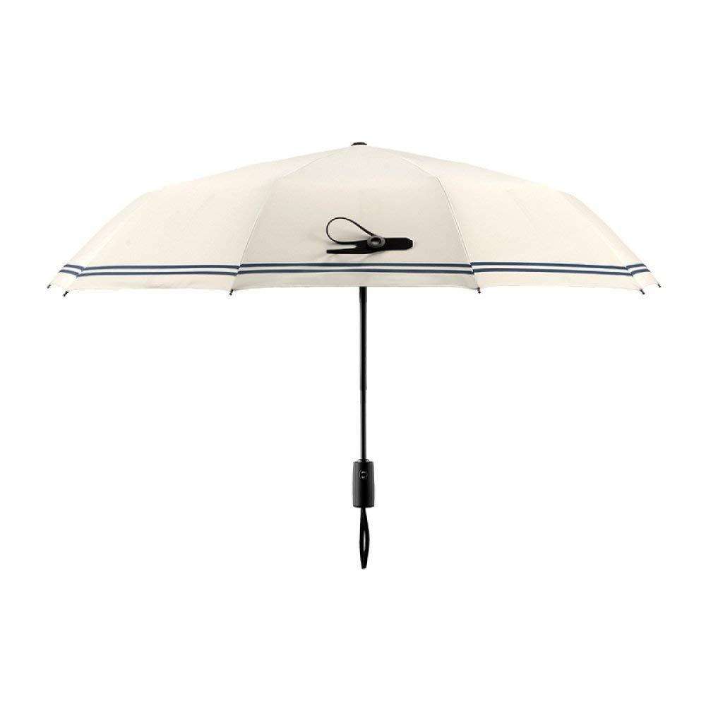 ZYLBB Fashion Business Jumbo Umbrella Universal Gentleman Automatic Umbrella Three Fold Folding Creative Sunscreen Parasols