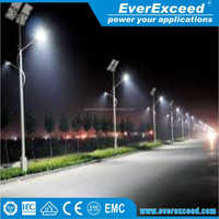 EverExceed high standard solar led power street light system with wireless led lighting control system