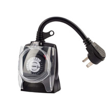 ACC-Th8007 602b Mekanik Outdoor Plug-In <span class=keywords><strong>Timer</strong></span> 2 Outlet Ground/Lampu Outdoor <span class=keywords><strong>Timer</strong></span> 30 Menit Incraments