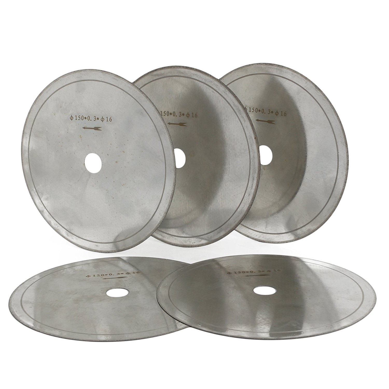 """JOINER 6"""" inch Super-Thin Arbor Hole 5/8"""" Rim 0.4mm Diamond Lapidary Saw Blade Cutting Disc Jewelry Tools for Stone Gemstone Pack of 5Pcs"""