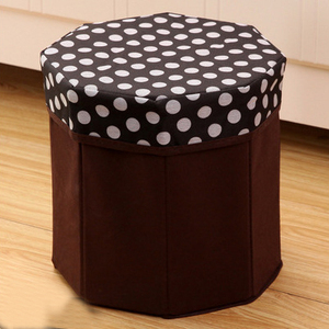 Practical family foldable puff hexagon footstool ottoman