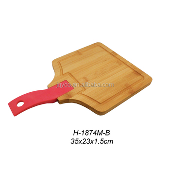 Blue Silicone Handle Bamboo Cheese Cutting Board Sets3 Piece Bamboo