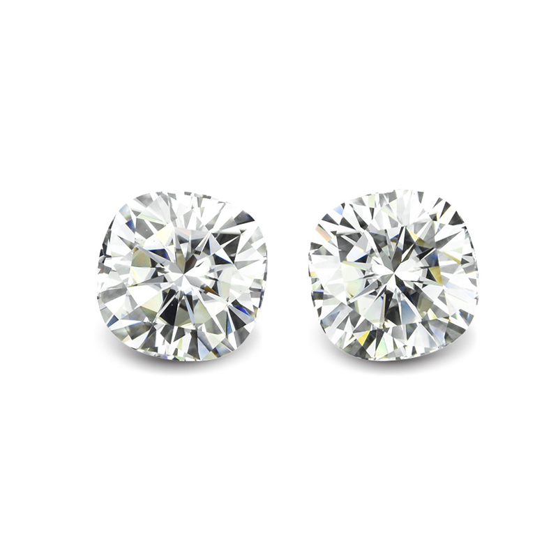 Factory price EF Color 1ct 5.5*5.5mm Crushed ice cushion cut loose moissanite <strong>stone</strong>