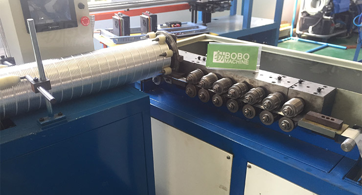 Double Layer Flexible Aluminum Duct Machine for Flexible Channeled Air Vents
