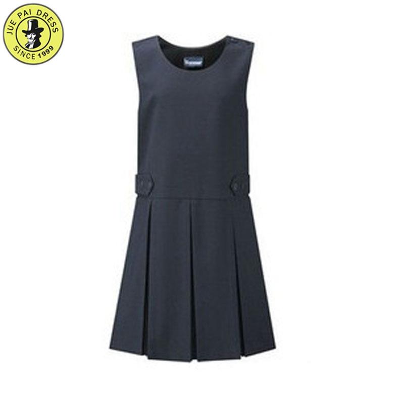 d110e26351 School Uniform Girls Woven Pleat Pinafore Girls School Pinafore Dress  Permanent Pleats Navy & Grey School