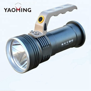 Wholesale High Power Handle Led Flashlight Long Range 2*18650 Battery Rechargeable Led Torch Light