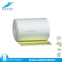 "3"" x 95' 2 Ply Self Contained Carbonless Paper Rolls White/Canary"