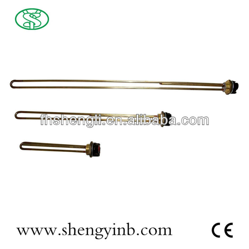 Electric steam iron water heating element