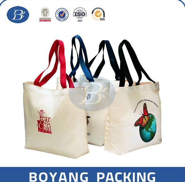 conference canvas bags printed with logos fitted with webbing handle