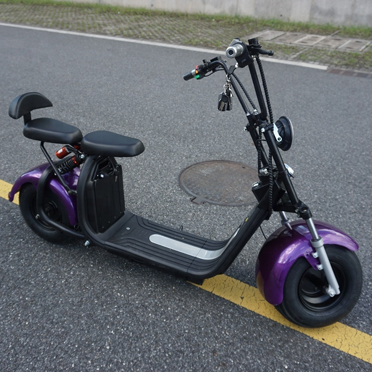 Emak/COC/EEC Cheap Big Wheel Electrical Citycoco For Europe, Black