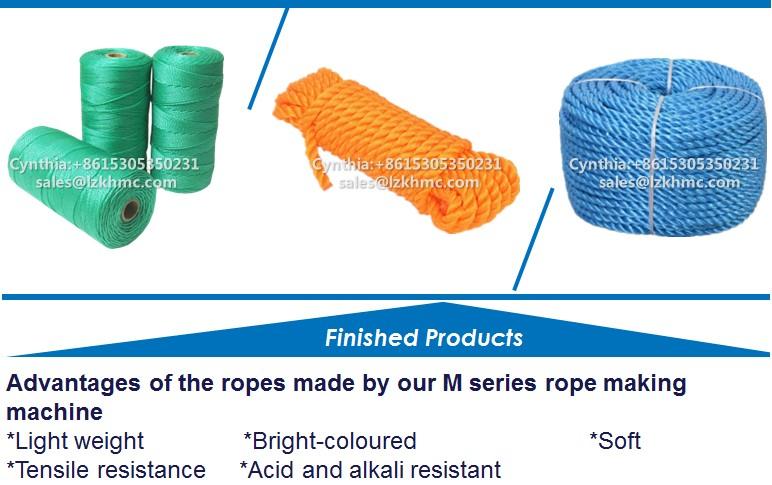 Kunststoff Sutli seil Maschinen pp pe nylon gedrehtes Seil, Der Maschine