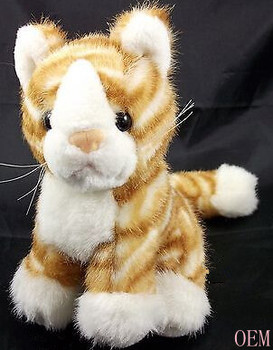Kitten Purrs Orange White Tabby Cat Plush Stuffed Animal Toy 7