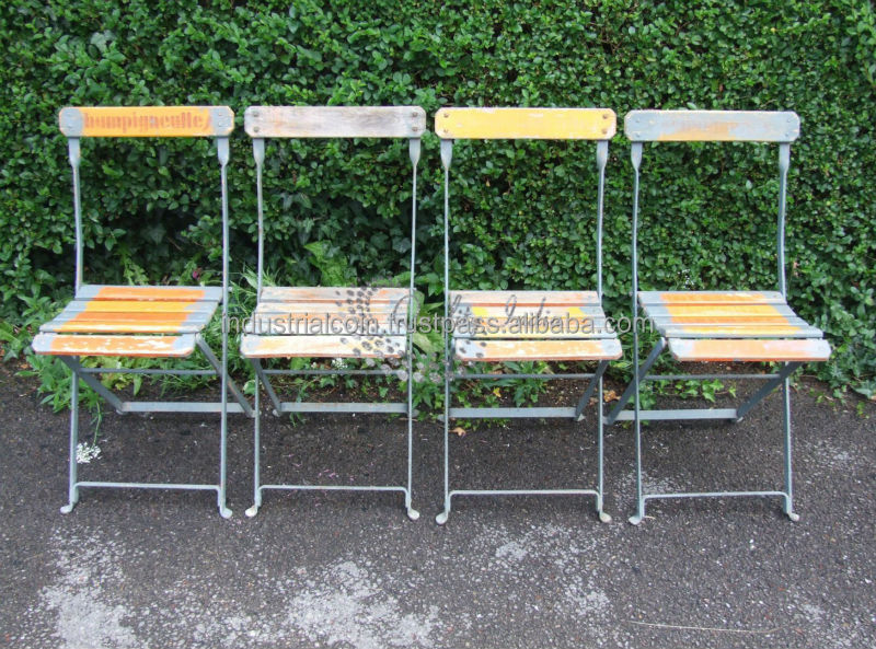 Vintage French Folding Cafe Chairs
