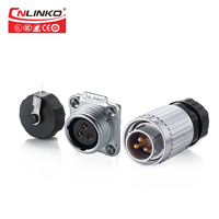 1 Pair 3 Pin IP65 Waterproof YW-16 Aviation Connector Plug Male & Female Panel Mount Connector 16mm