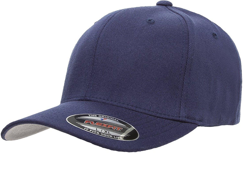 8c9d05ae7 Get Quotations · Flexfit 6477 Wool Blend Cap - Small/Medium (Navy)