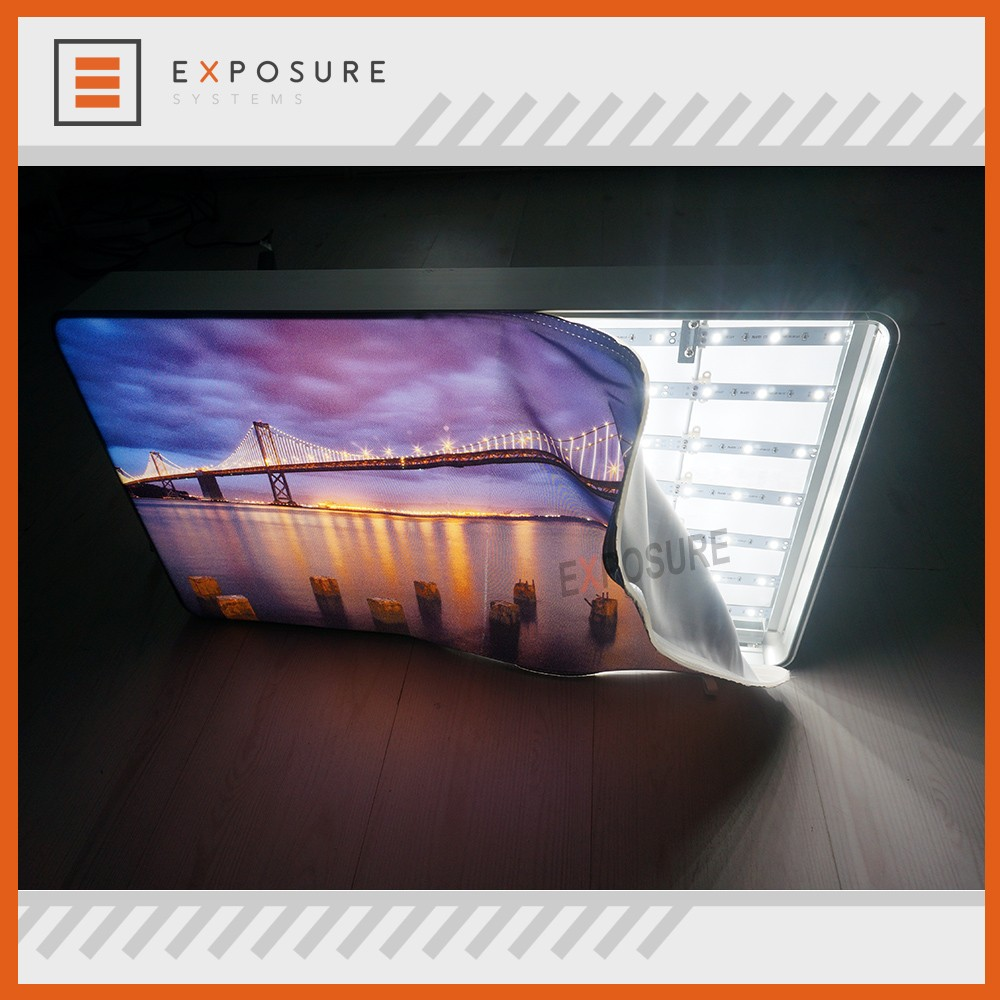 Aluminum Profile SEG/Silicon Edge Graphic Fabric Illuminated Frames