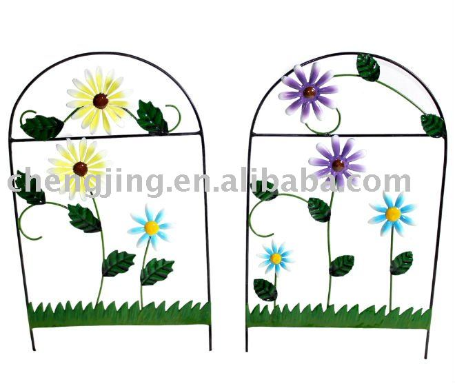garden decoration flower fence outdoor wall art