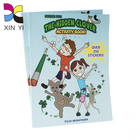 Cheap colour printed custom logo laminated magnetic kids sticker book for happy learning