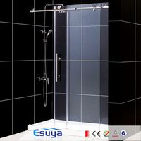 Customize size rectangle tempered glass sliding shower door/shower room cost
