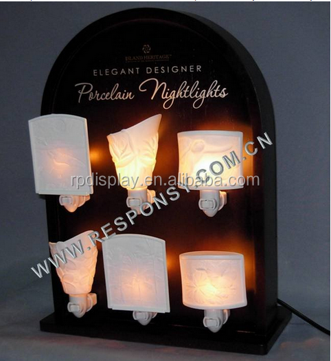 Custom POP MDF night lamp display stand for retail stores