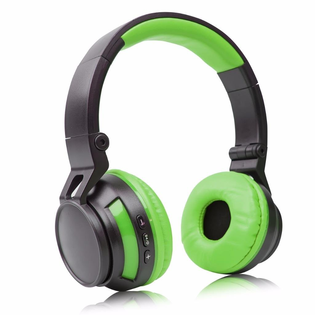 Stereo Wireless Headset/Headphones for Samsung Galaxy A8 (2018), A8+, A8 Plus (2018),On7 Prime,J2 (2018),C7 (2017), C8, J7+ (Green/Black)